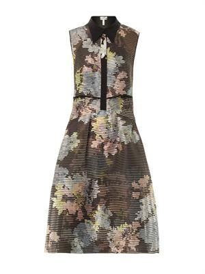 Carenza cedar-print silk-organza dress