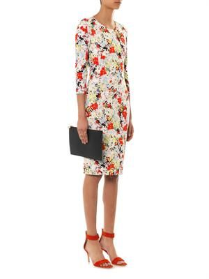 Allegra Eton-print dress