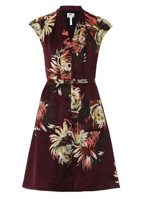 Hanny Pergamum garden-print silk dress
