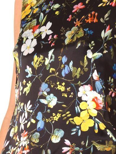 Erdem Frine Velasquez Night-print silk top