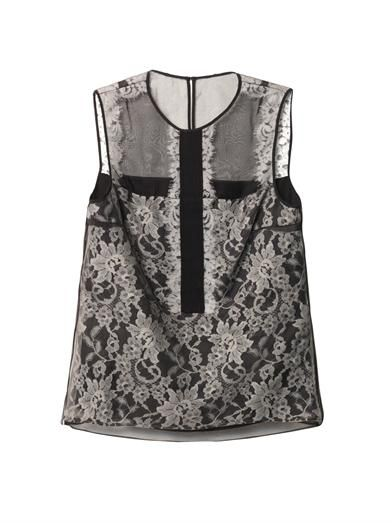 Erdem Wade lace and organza blouse