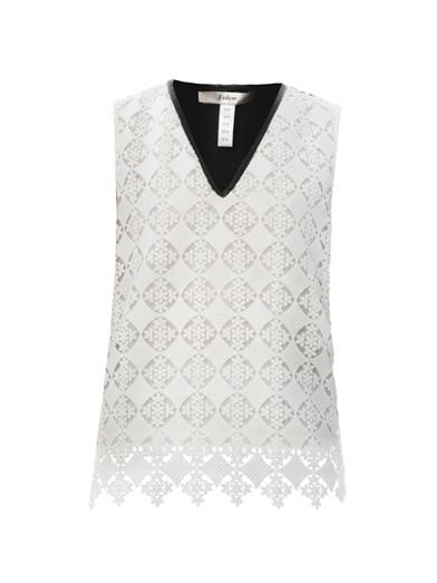 Erdem Vita diamond lace blouse