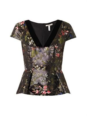 Emelia Botanical-jacquard top