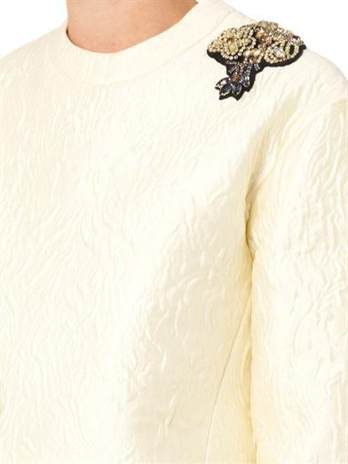 Erdem Madita crystal-embellished jacquard top