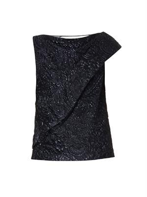 Niceta metallic-jacquard top