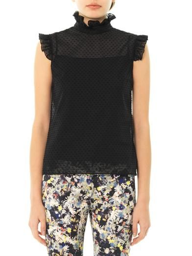 Erdem Mika jacquard sleeveless blouse