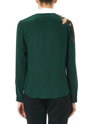 Erdem Sloane garden-print silk blouse
