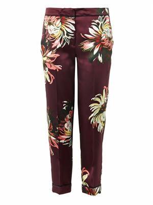 Gianna garden-print silk trousers