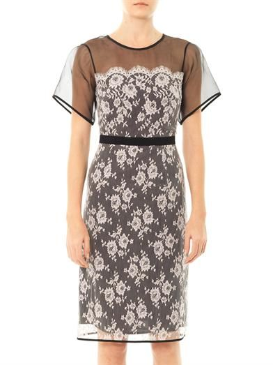 Erdem Heidi organza and lace dress