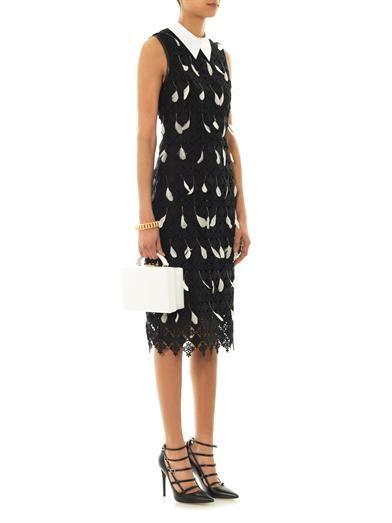 Erdem Brenton diamond-lace feather dress