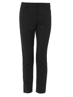 Sidney dotted jacquard tailored trousers