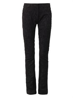 Stina damask-brocade trousers