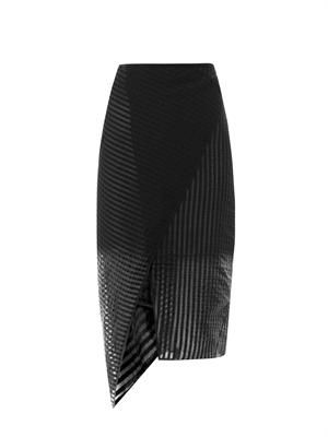 Caroline asymmetric pencil skirt