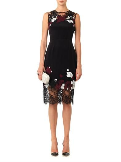Erdem Kent floral-lace satin dress