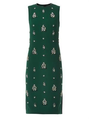 Brenton embellished crepe dress