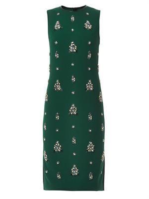 Brenton embellished crepe dress