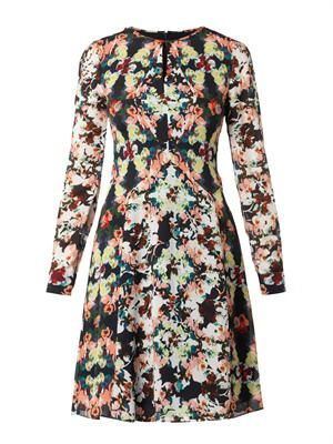 Tamia Peabody-print silk dress