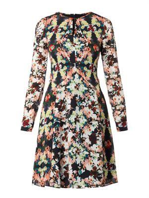 Tamia Peabody-print silk dress