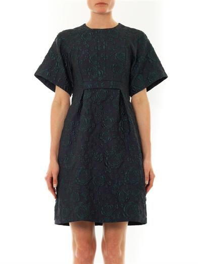 Erdem Cliona rose-brocade trapeze dress