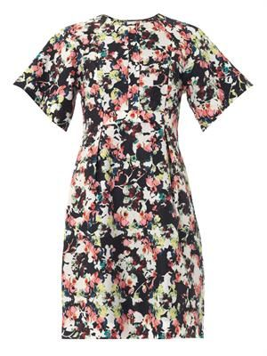 Cliona Matelasse Peabody-print dress