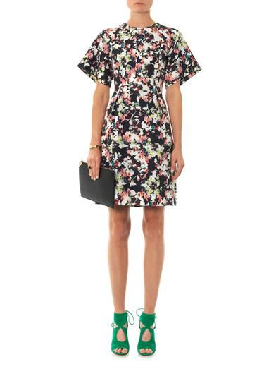 Erdem Cliona Matelasse Peabody-print dress