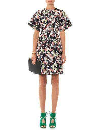 Erdem Cliona Matelasse Peabody-print dress