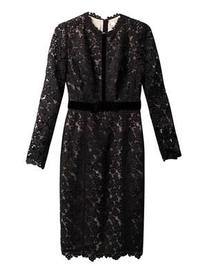 Cherise long-sleeved lace dress