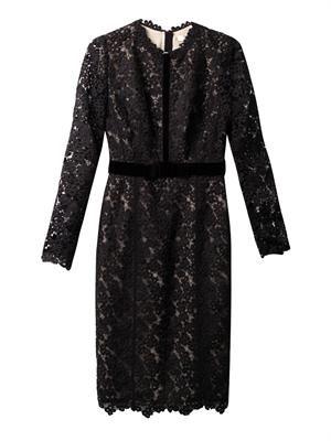 Cherise long-sleeved lace dress