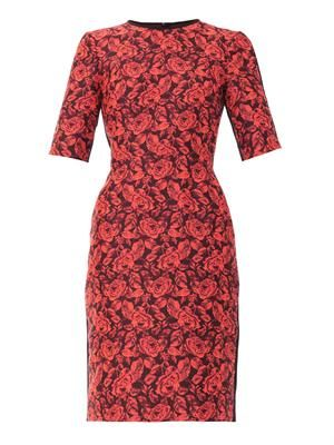 Ivy rose-jacquard dress
