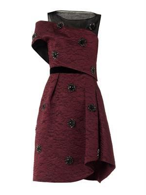 Anja embellished cloqué dress