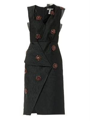Ayumi embellished cloqué dress