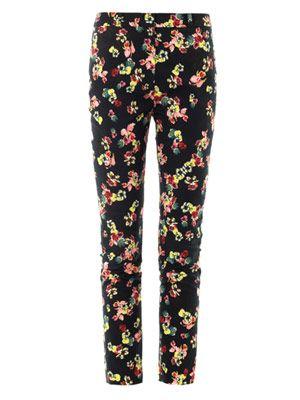 Merlinda St. Gall garden-print trousers