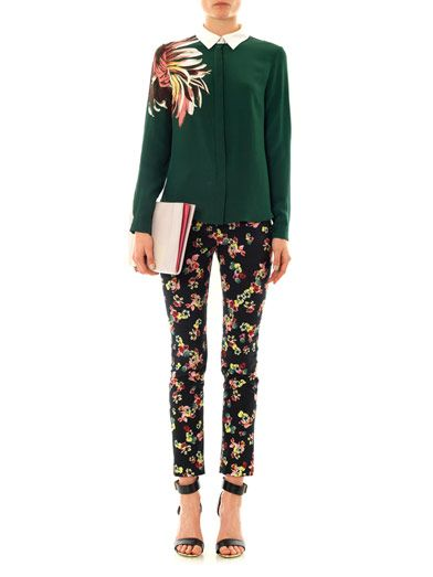 Erdem Merlinda St. Gall garden-print trousers