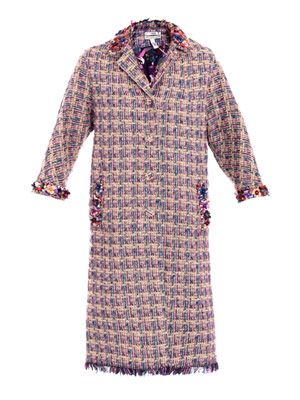 Whitley tweed embellished coat