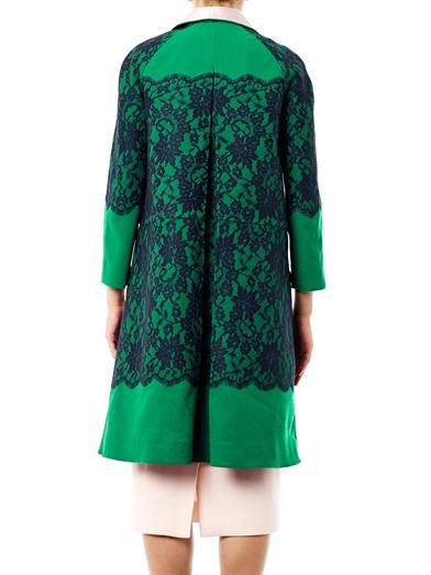Erdem Fleur lace evening coat