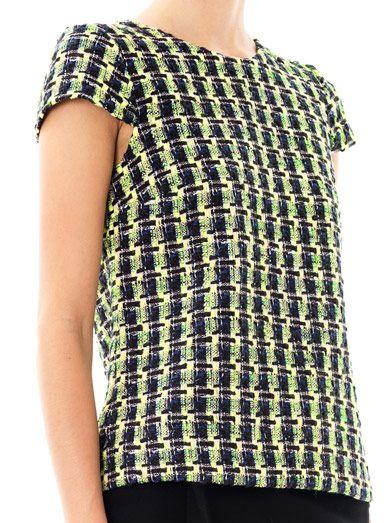 Erdem Amanie tweed top