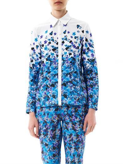 Erdem Cecilia Kabuki sky degrade-print shirt