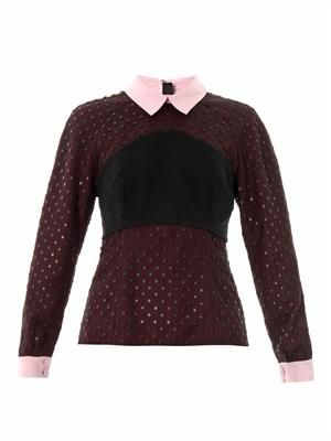 Ebony dot tulle blouse