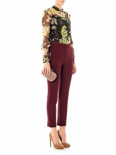 Erdem Tabia rose-dot organza blouse