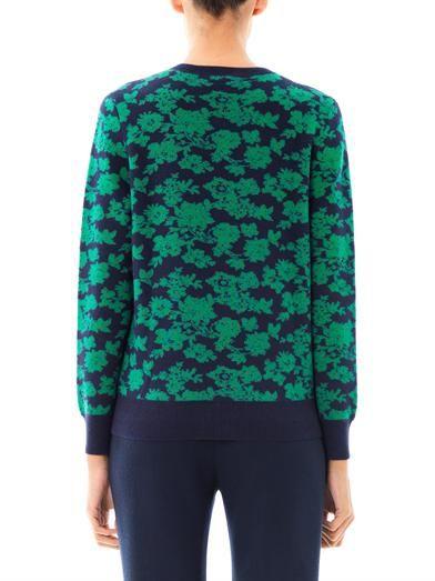 Erdem Penelope floral knit cardigan