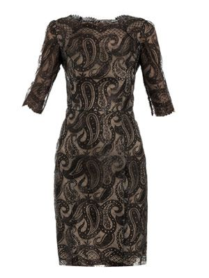 Anna paisley lace dress