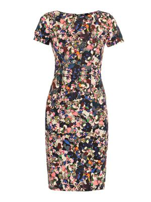 Joyce Dartry park-print dress