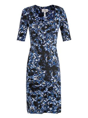 Etta Venice-print fitted dress