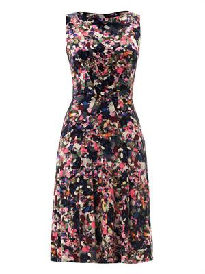 Charla Darty-print dress
