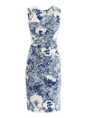 Trina Milandes-print fitted dress