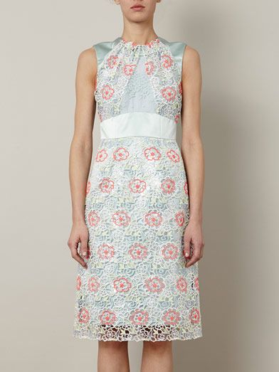 Erdem Alicia embroidered overlay dress