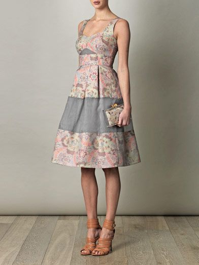 Erdem Ashlyn jacquard and organza dress