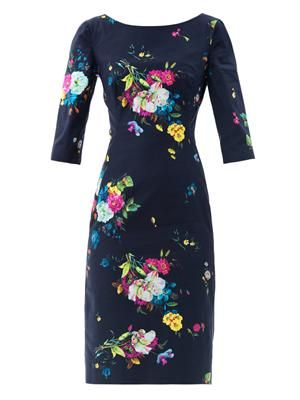 Cecile Dauphine night floral-print dress