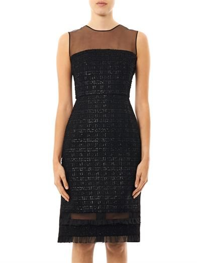 Erdem Livvie fitted tweed dress