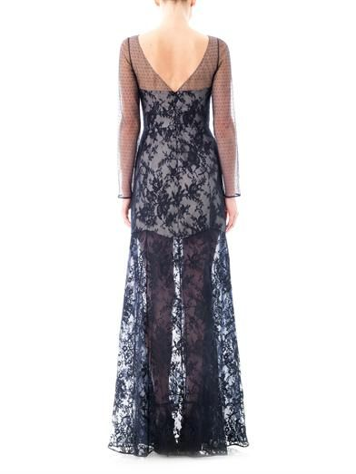 Erdem Jaylee lace panelled gown